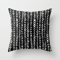numbers Throw Pillows featuring NUMBERS by Rebecca Allen