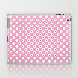 60s Ditsy Daisy Floral in Mod Pink Laptop & iPad Skin