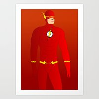 the flash Art Prints featuring Flash by pablosiano