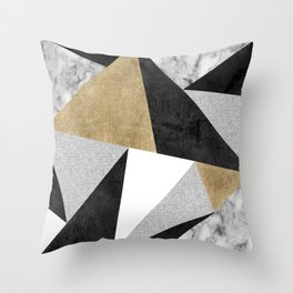 Triangles Are Never Boring Throw Pillow