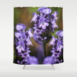 Lavender purple flower plant Shower Curtain