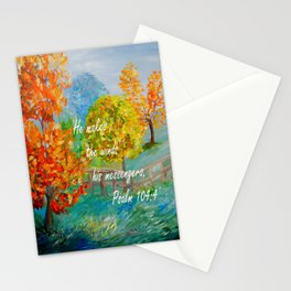 He Makes the Winds His Messengers Stationery Cards