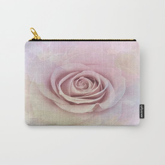 Forever My Love Pink Rose Abstract Carry-All Pouch