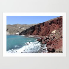 Red Beach Art Print