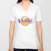 lakers V-neck T-shirts featuring L.A. Vaders by Ant Atomic