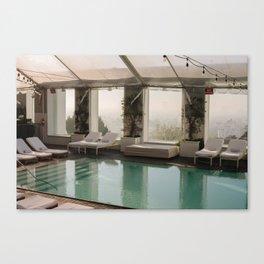 Pool Side  Canvas Print