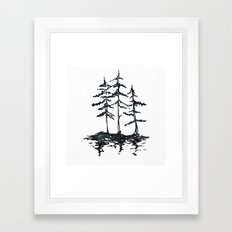 THE THREE SISTERS Black and White Framed Art Print