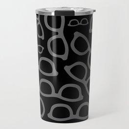 Black Smart Glasses Pattern Travel Mug