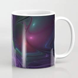 Purple Creek, Abstract Colorful Fractal Art Coffee Mug