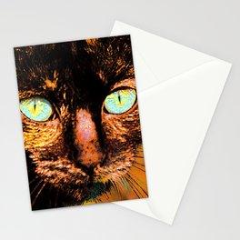 Fluffy's eyes, painterly Stationery Cards