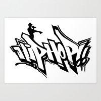 hip hop Art Prints featuring Hip Hop by Michael Jordan