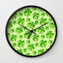 Happy St. Patrick's Day Pattern | Ireland Luck Wall Clock