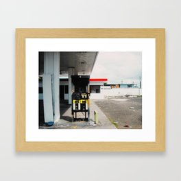 Abandoned gas station Framed Art Print