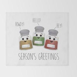 Season's Greetings | Garlic, Oregano & Paprika Throw Blanket