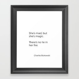 Mad and magic Framed Art Print