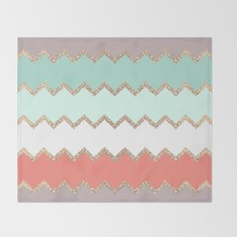 AVALON CORAL MINT Throw Blanket
