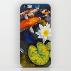 Koi Fish and Water Lily iPhone & iPod Skin