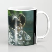 hippo Mugs featuring Hippo by BruceLeeVesely