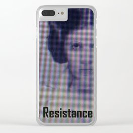 The Resistance starts now Clear iPhone Case