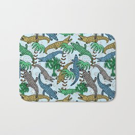 Crocodile Chaos Bath Mat