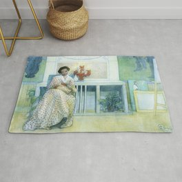 12,000pixel-500dpi - After The Prom - Carl Larsson Rug