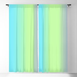 Spring - Pastel - Easter Greens Blues and Purple Vertical Stripes Gradient Blackout Curtain