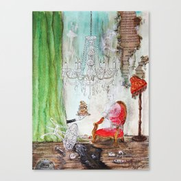 Chandellier Room High Tea Abandoned I Canvas Print