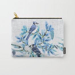 WINTER BLUE JAYS Carry-All Pouch
