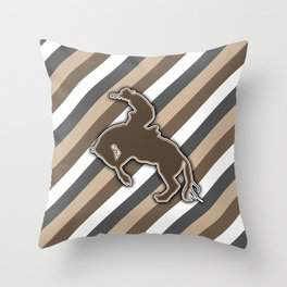 Cowboy Rodeo Bucking Horse Design Throw Pillow