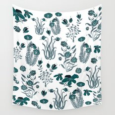 green or blue garden?? Wall Tapestry