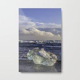 Jokulsarlon Lagoon Beach 04  Metal Print