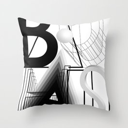 History of Art in Black and White. Bauhaus Throw Pillow