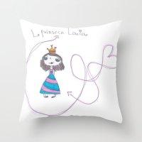 laia Throw Pillows featuring princesa laia by mondebettina