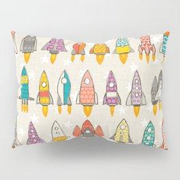 retro rockets eggshell Pillow Sham
