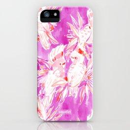 COCKATUDE Pink Cockatoo Watercolor iPhone Case