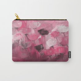 Rose Garden in Shades of Peachy Pink Carry-All Pouch