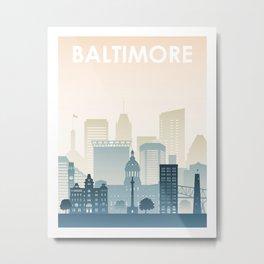 Baltimore Color Print Metal Print