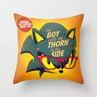 8 bit Throw Pillows featuring 8-bit Smiths | Thorn by Butcher Billy