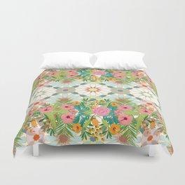 floral zellij ntropical Duvet Cover