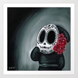 Dia de Los Muertos Shy Guy Art Print