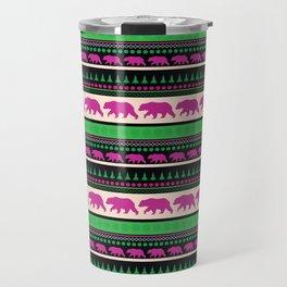 Bear Pattern Travel Mug