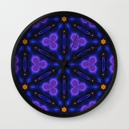 Cosmic Dreams seamless pattern Wall Clock