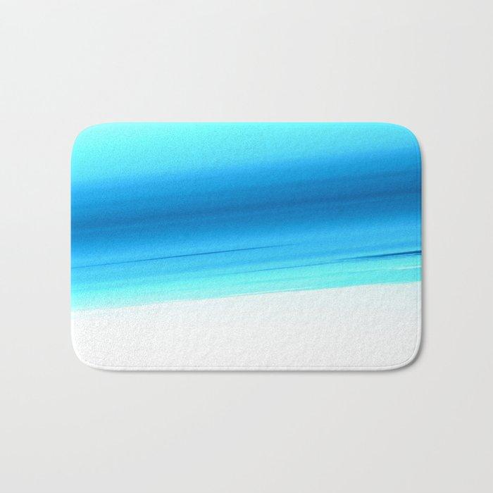 Turquoise Aqua Ombre Bath Mat