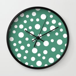 Crazy Dots: Comfrey Green  Wall Clock