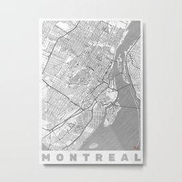 Montreal Map Line Metal Print