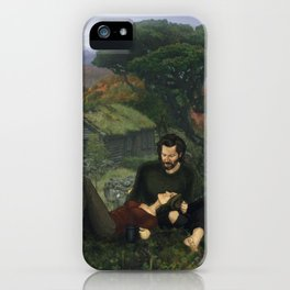 """""""The Ghosts That We Knew Will Flicker From View; and We'll Live a Long Life."""" iPhone Case"""