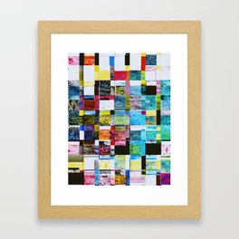 Summer Glitch Framed Art Print
