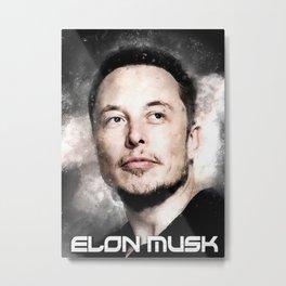 Elon Musk Quote Metal Print