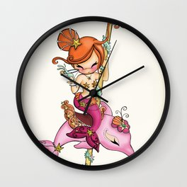 Dolly Dolphin Wall Clock