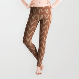Ligonier Tan SW 7717 V Shape Horizontal Lines on Cavern Clay SW 7701 Leggings